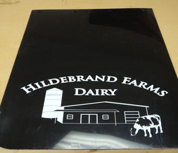 Hildebrand Farms Dairy mud-flap