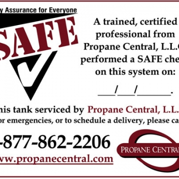 Propane Central SAFE Check Decals