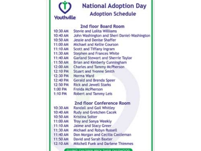 Youthville Adoption Day Event Sign