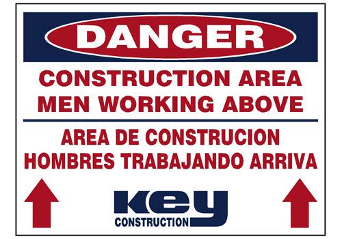 Key Construction-Area-Men-Above