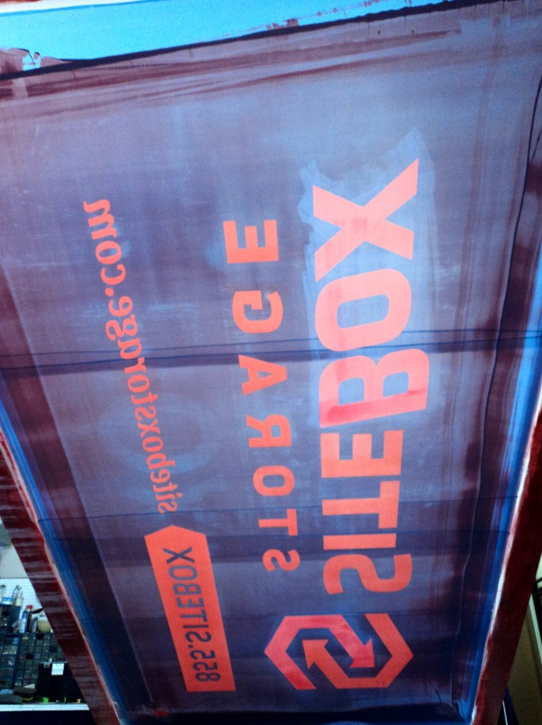 It's hard to read, but this is the underside of the screen for all of those 4' x 8' signs.