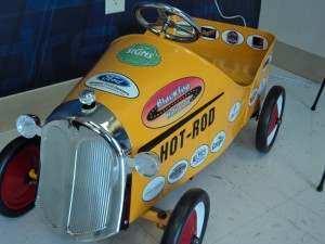 This pedal car was given away at Black Top Nationals.