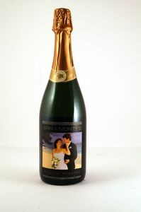 champagne with custom label