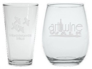pint and wine glasses