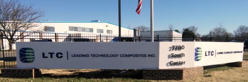 Leading Technology Composite Campus Sign